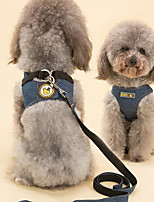 cheap -Dog Pets Harness Portable Breathable Polyester Blue 2pcs