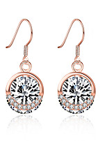 cheap -Women's Cubic Zirconia Drop Earrings Vintage Style Holiday Stylish S925 Sterling Silver Earrings Jewelry Rose Gold For Anniversary Party Evening Gift Festival 1 Pair