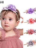 cheap -cross-border european and american fashion stitching flower children's hair accessories multicolor with rhinestones pearl soft nylon baby princess hair accessories
