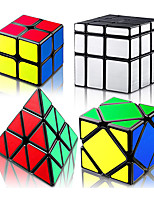 cheap -QiYi 4 Pieces Speed Cube Set, Cube Set Cube Bundle 2 x 2 Pyramid Skewb Mirror Magic Cube, Smooth Puzzle Cube Collection, Easy Turning 3D Puzzle Cube Games Toy for Teens and Adults