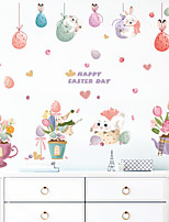 cheap -Cartoon Candy Bunny Egg Pendant Potted Children Room Bedroom Kindergarten Wall Background Decoration Wall Sticker