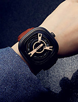 cheap -Men's Dress Watch Analog Quartz Modern Style Large Dial / One Year / Leather