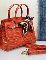 cheap -Women's Bags PU Leather Satchel Top Handle Bag Date Office & Career 2021 Handbags Black Blue Orange Gray