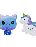 cheap -Squishies 2 PCS Ice Cream Cat Galaxy Unicorn Squishy Slow Rising Jumbo Kawaii Toys for Kids