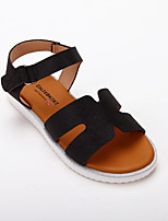 cheap -Girls' Sandals Roman Shoes PU Lace up Big Kids(7years +) Daily Home Buckle Luminous Black Spring Summer