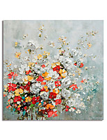cheap -Oil Painting Hand Painted Abstract Flowers by Knife Canvas Painting Comtemporary Simple Modern Stretched Canvas Ready to Hang