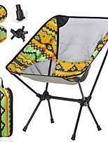 cheap -Camping Chair Portable Ultra Light (UL) Foldable Breathable Oxford 7075 Aluminium Alloy for 1 person Fishing Beach Camping Autumn / Fall Winter Yellow Red