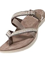 cheap -Women's Sandals Boho Bohemia Beach Wedge Heel Round Toe PU Light Brown Black Pink