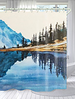 cheap -Landscape Painting in Picture Digital Printing Shower Curtain Shower Curtains  Hooks Modern Polyester New Design
