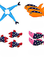 cheap -Interactive Toy Catnip Toy Sqeauking Toy Cat Kitten 1pc Fish Adorable Reusable Releasing Pressure Cotton Gift Pet Toy Pet Play