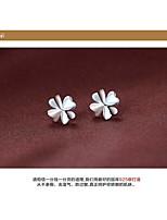 cheap -stud earrings female clover stud earrings sterling silver earrings silver jewelry hypoallergenic earrings