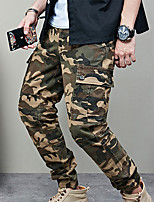 cheap -Men's Work Pants Hiking Cargo Pants Hiking Pants Trousers Camo Summer Outdoor Ripstop Multi Pockets Breathable Sweat wicking Cotton Bottoms Army Green Burgundy Khaki Dark Blue Work Hunting Fishing 28