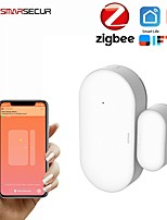 cheap -Tuya Zigbee Door Window Sensor Small Smart Home Mini Magnetic Garage Door Opening Sensor System Alarm Gate Open / Close Detector