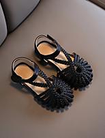 cheap -Girls' Sandals Princess Shoes PU Big Kids(7years +) Black Dusty Rose Beige Fall Summer