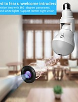 cheap -1080p hd 360° panoramic  bulb camera led light surveillance cameras with wifi home security fisheye bulb lamp cctv video