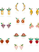 cheap -cute tropical fruit earrings female diamond earrings earrings jewelry