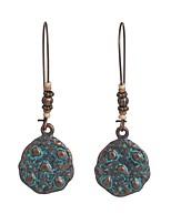 cheap -Women's Hoop Earrings Geometrical Floral Theme Stylish Simple Basic Boho Earrings Jewelry Golden For Gift Daily Festival 1 Pair