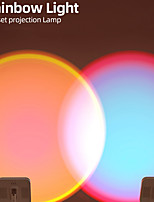 cheap -Sunset Light Sunset Lamp Projector, Romantic Visual Tiktok Led Night Light USB Modern Night Light for Home Party Living Room Bedroom(Rechargeable)