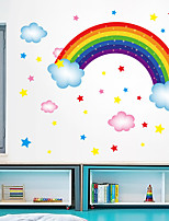 cheap -Wall Sticker New Cartoon Rainbow Stars Cloud DIY Restaurant Kitchen Porch Wall Background Beautification Decorative Wall Sticker