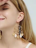 cheap -Women's Hoop Earrings Geometrical Dream Catcher Shell Stylish Boho Earrings Jewelry Gold For Party Wedding 1 Pair