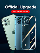 cheap -Luxury Plating Phone Case For iPhone 12 Pro Max 11 Pro Max Full Lens Cover Shockproof Soft TPU Clear Back Cover