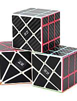 cheap -QiYi Speed Cube Set, Magic Cube Bundle of 3x3x3 Fisher Cube 3x3x3 Axis Cube 3x3x3 Windmill Cube Carbon Fiber Sticker Puzzle Toys Puzzle Bundle