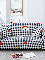 cheap -Grid Cartoon Print Dustproof All-powerful Stretch Sofa Cover Super Soft Fabric with One Free Boster Case
