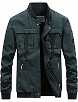 cheap -Men's Hiking Jacket Bomber Jacket Military Tactical Jacket Autumn / Fall Spring Summer Outdoor Quick Dry Lightweight Breathable Sweat wicking Outerwear Jacket Top Hunting Fishing Climbing Black Blue