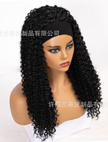cheap -amazon new hair band wig european and american women's long curly hair simulation hair chemical fiber wig headgear wholesale custom