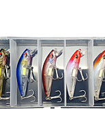 cheap -5 pcs Lure kit Fishing Lures Minnow lifelike 3D Eyes Night Glowing Sinking Bass Trout Pike Sea Fishing Lure Fishing Freshwater and Saltwater