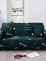 cheap -Green Stars Print Dustproof All-powerful Stretch Sofa Cover Super Soft Fabric  with One Free Boster Case