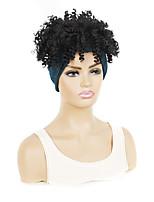 cheap -8 inch large headscarf headgear african female explosive headscarf wig hair cover fluffy hair lead cover multicolor optional