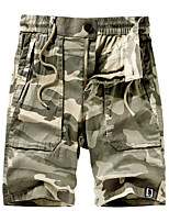 """cheap -Men's Hiking Shorts Hiking Cargo Shorts Military Camo Summer Outdoor 10"""" Ripstop Quick Dry Multi Pockets Breathable Cotton Knee Length Bottoms Army Green Khaki Dark Blue Work Hunting Fishing 29 30 31"""