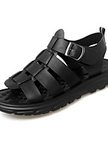 cheap -Men's Sandals Beach Roman Shoes Daily Outdoor Nappa Leather Breathable Non-slipping Wear Proof Black Spring Summer