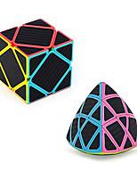 cheap -ZCUBE Speed Cube Set Carbon Fiber Sticker Skewb Cube 3×3×3 Mastermorphix Speed Cube Twisty Magic Cube Bundle (2 Pack)
