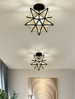 cheap -LED Mini Ceiling Light Porch Light Corridor Light Black Gold 20 cm Single Design Metal Vintage Style Classic Novelty Painted Finishes Traditional Classic Nordic Style 110-120V 220-240V