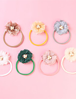 cheap -1pcs Toddler / Infant Girls' Active / Sweet Daily Wear White Floral Floral Style Nylon Hair Accessories White / Yellow / Blushing Pink One-Size