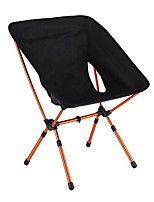 cheap -Camping Chair Multifunctional Portable Breathable Ultra Light (UL) Aluminum Alloy Oxford for 1 person Fishing Beach Camping Traveling Autumn / Fall Winter Black