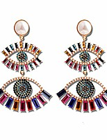 cheap -evil eye earrings halloween funny earrings for women rainbow rhinestone crystal earrings dangle hypoallergenic earrings for teen girls