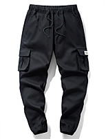 cheap -Men's Hiking Pants Trousers Hiking Cargo Pants Solid Color Summer Outdoor Windproof Breathable Wear Resistance Scratch Resistant Pants / Trousers Bottoms Black Fishing Climbing Camping / Hiking