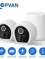 cheap -cpvan surveillance camera 1080p wireless weatherproof ip security camera system 1/2cam kits with homebase 180 days battery life