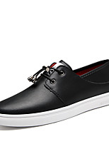cheap -Men's Sneakers Comfort Shoes Casual Classic Preppy Daily Office & Career Nappa Leather Breathable Non-slipping Wear Proof White Black Spring Summer