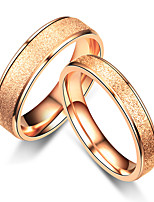 cheap -romantic simple frosted couple ring