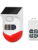 cheap -new wireless solar infrared alarm detector siren motion sensor detector for home garden yard outdoor with rf433 remote control