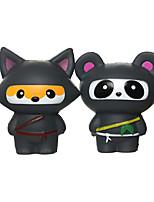 cheap -Kawaii Ninja Panda and Fun Ninja Fox Stress Relief Toy Slow Rising Scented Jumbo Squishy Squeeze Squishies and Gifts