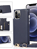 cheap -Phone Case For Apple Back Cover iPhone 12 Pro Max 11 SE 2020 X XR XS Max 8 7 6 Card Holder Shockproof Leather Solid Colored PU Leather