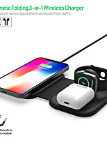 cheap -3 in 1 Wireless Chargers Portable Charger Wireless Charger For For Cellphone For Smart Watch Portable Foldable with Cable 15 W Output Power RoHS CE Certified FCC