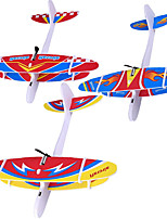 cheap -3 pcs Electric Foam Airplane with LED Lights Outdoor Airplane Toy Entertainment Parent-Child Foam Glider Pilot Flying Gift for Children Kids