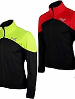 cheap -sparx men cycling jacket thermal insulated breathable windbreaker jacket high viz bicycle windproof jersey (black/hiviz green, small)