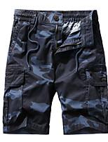 "cheap -Men's Hiking Shorts Hiking Cargo Shorts Military Camo Summer Outdoor 10"" Ripstop Quick Dry Multi Pockets Breathable Cotton Knee Length Shorts Bottoms Army Green Khaki Dark Blue Hunting Fishing"